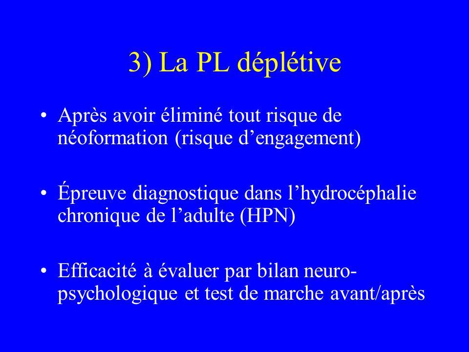 3) La PL déplétive Après avoir éliminé tout risque de néoformation (risque d'engagement)