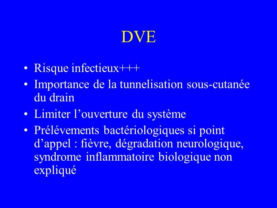 DVE Risque infectieux+++
