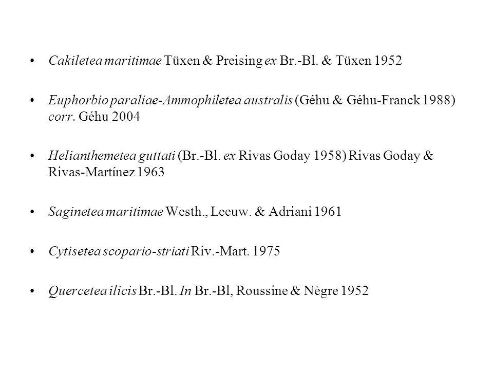 Cakiletea maritimae Tüxen & Preising ex Br.-Bl. & Tüxen 1952