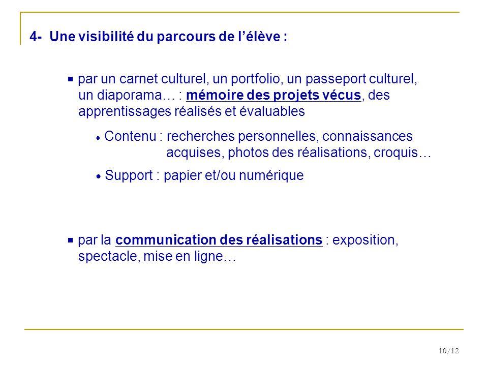 4- Une visibilité du parcours de l'élève :