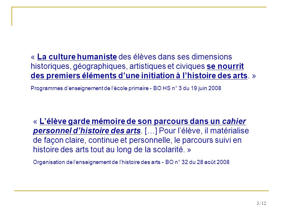 « La culture humaniste des élèves dans ses dimensions
