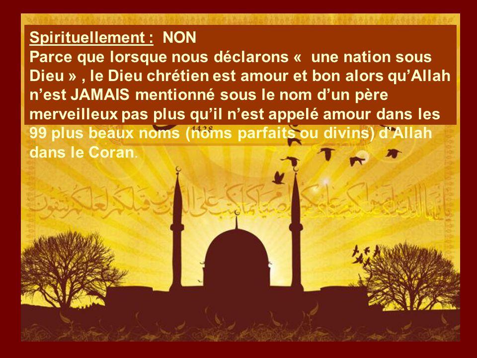 Spirituellement : NON