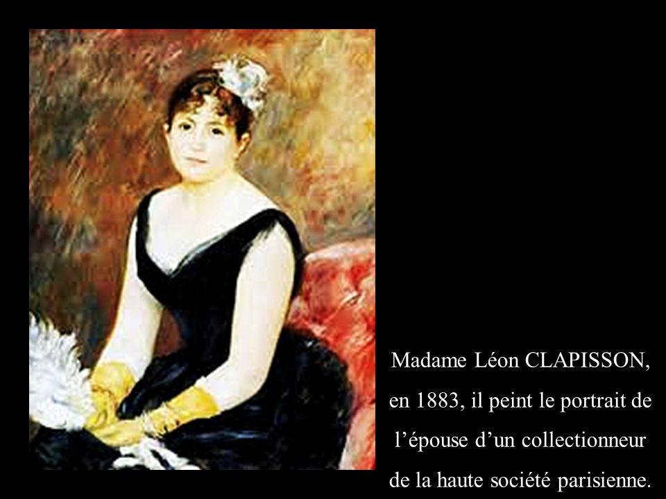en 1883, il peint le portrait de l'épouse d'un collectionneur