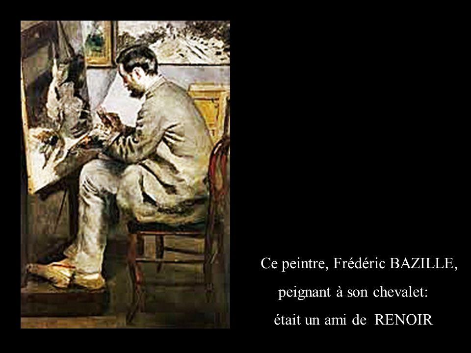 Ce peintre, Frédéric BAZILLE, peignant à son chevalet: