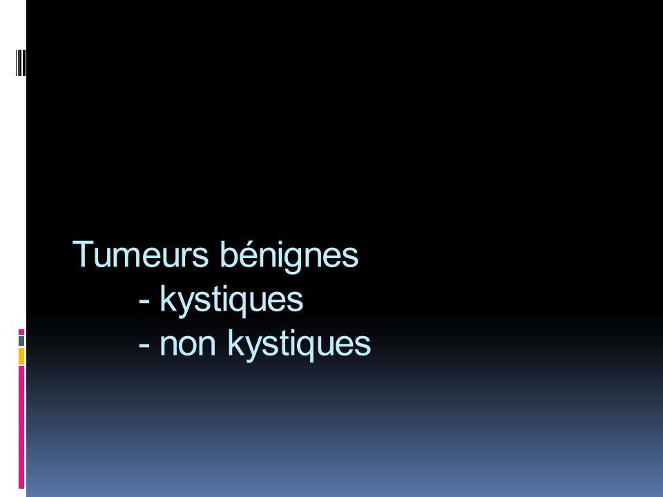 Tumeurs bénignes - kystiques - non kystiques