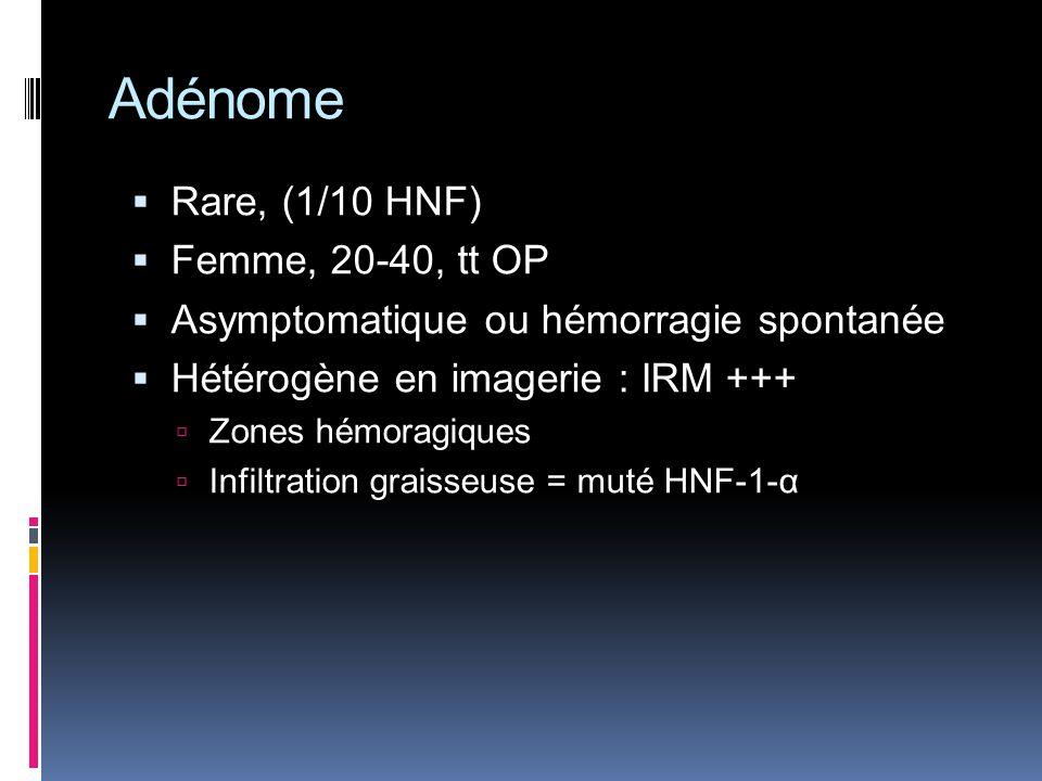 Adénome Rare, (1/10 HNF) Femme, 20-40, tt OP