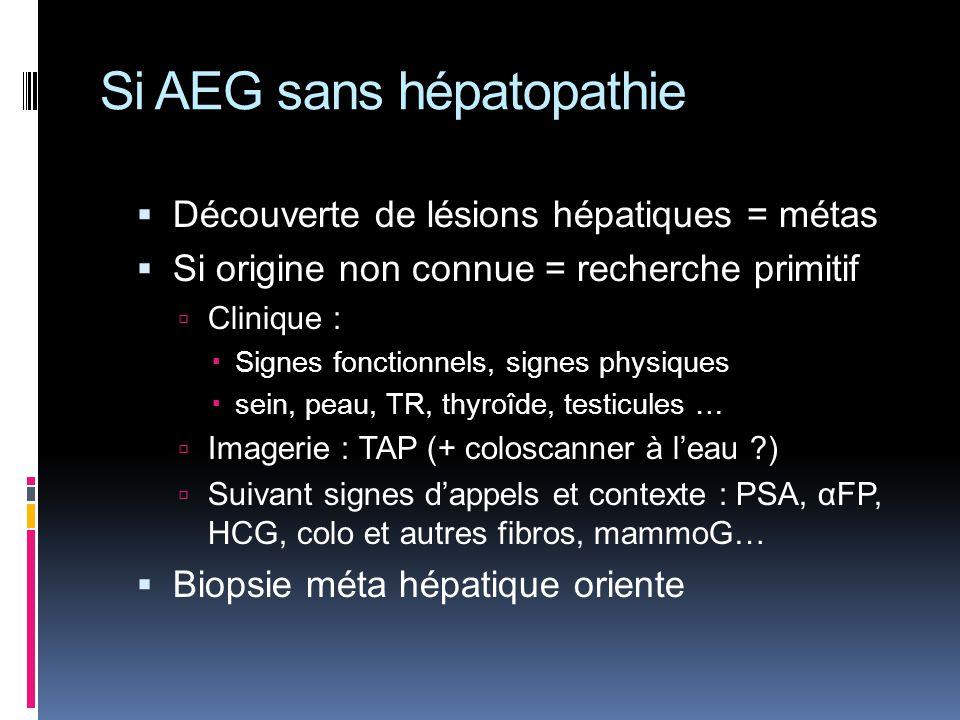 Si AEG sans hépatopathie