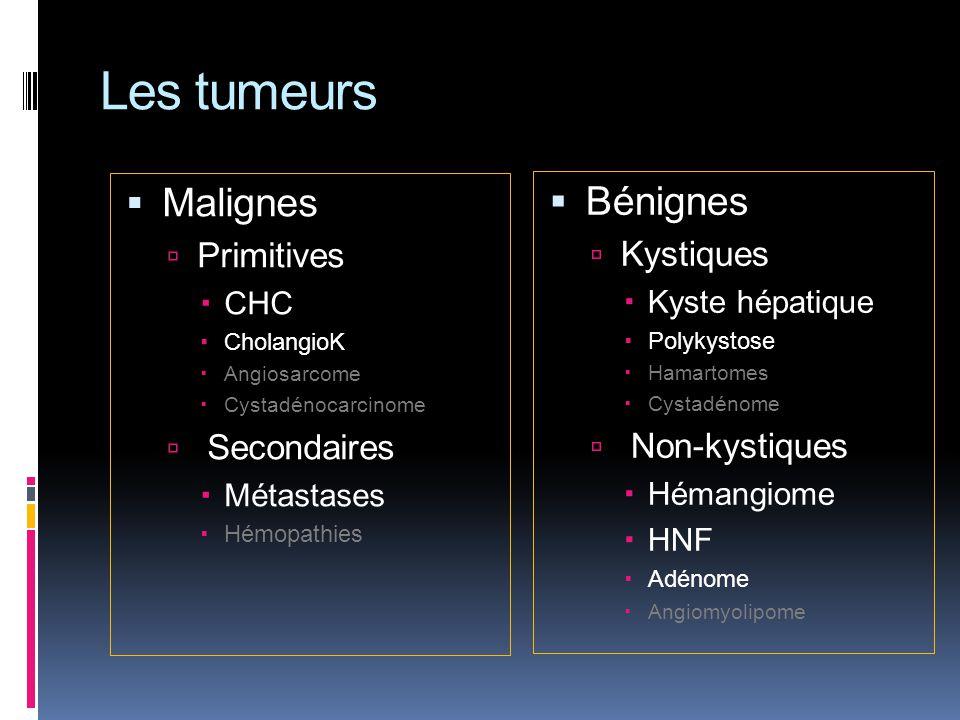 Les tumeurs Malignes Bénignes Primitives Kystiques Secondaires