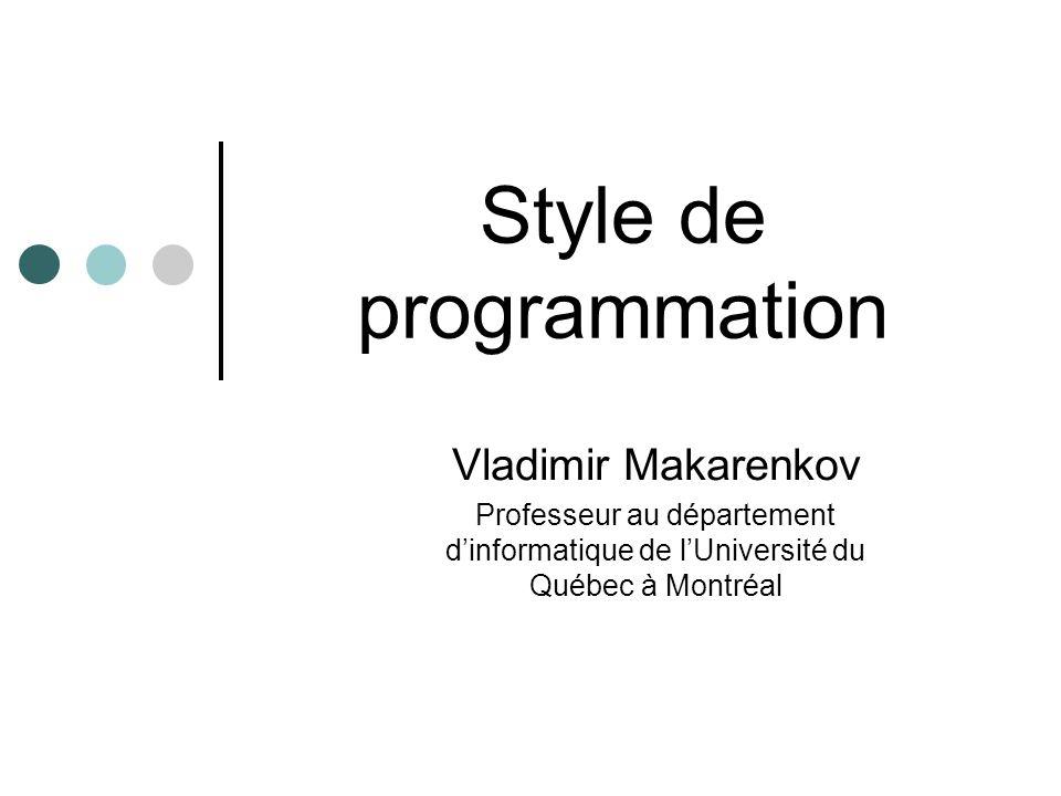 Style de programmation