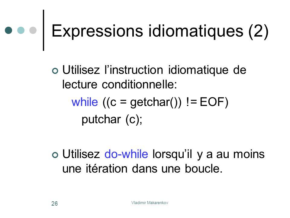 Expressions idiomatiques (2)