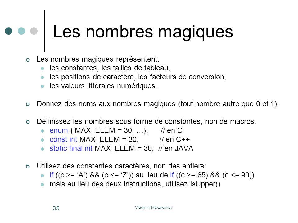 Les nombres magiques Les nombres magiques représentent: