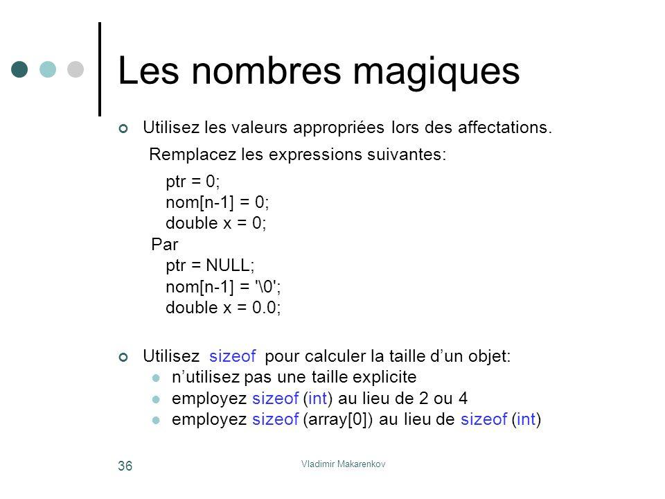 Les nombres magiques Remplacez les expressions suivantes: