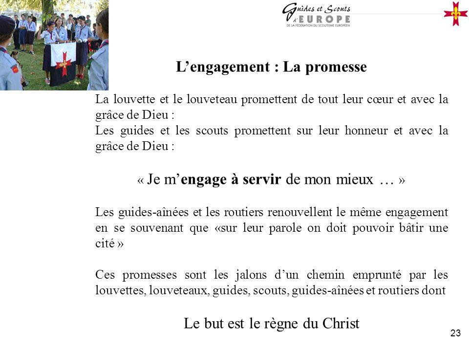 L'engagement : La promesse