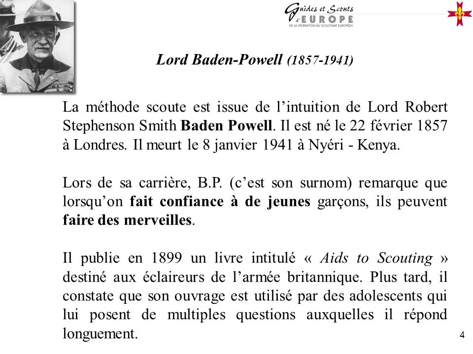 Lord Baden-Powell (1857-1941)