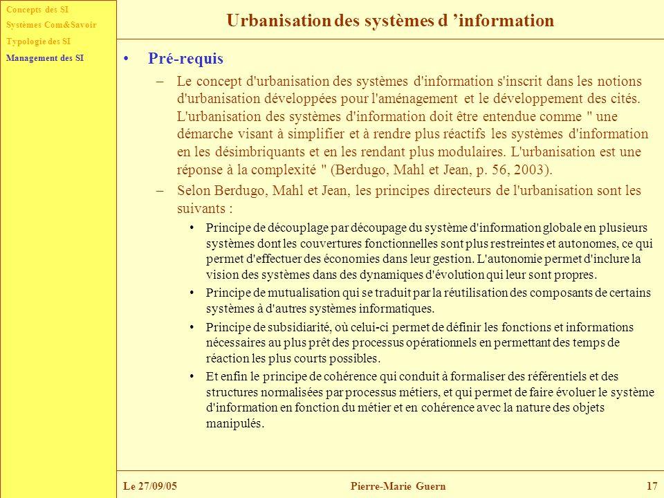 Urbanisation des systèmes d 'information