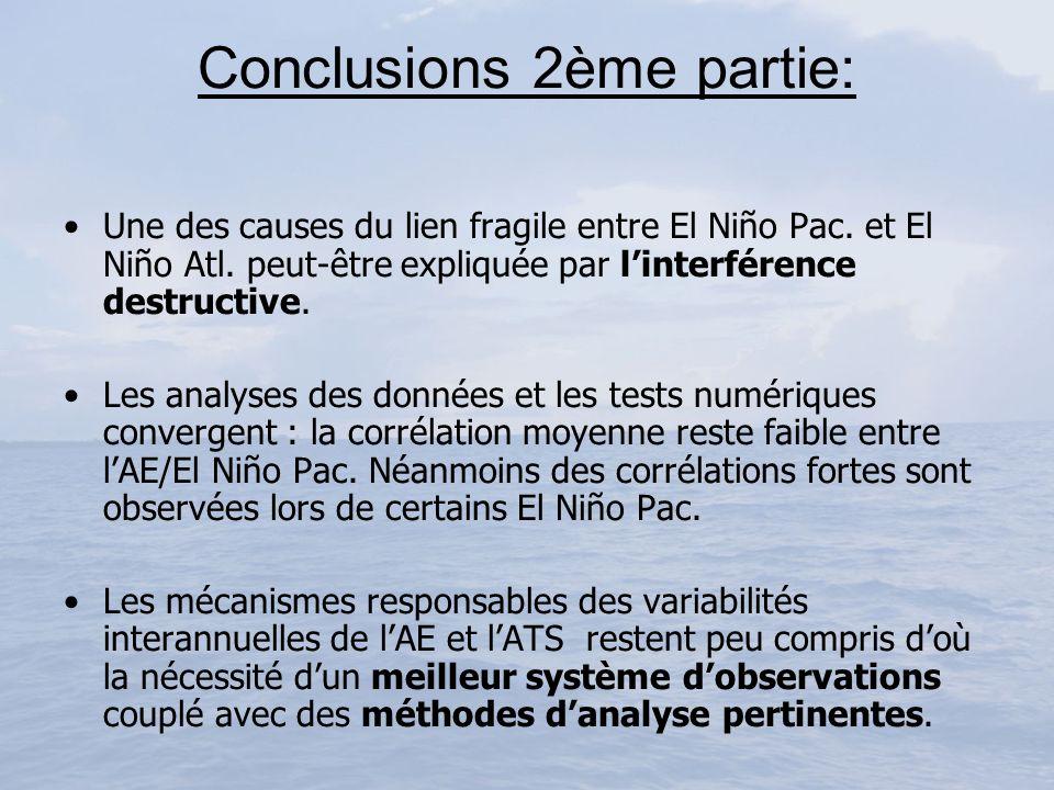 Conclusions 2ème partie: