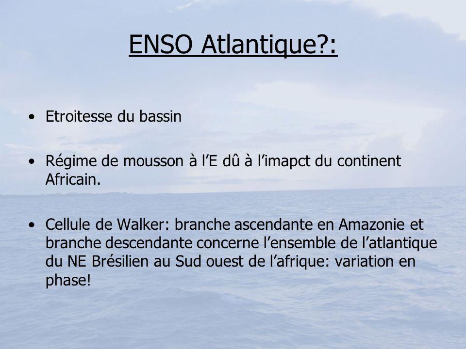 ENSO Atlantique : Etroitesse du bassin