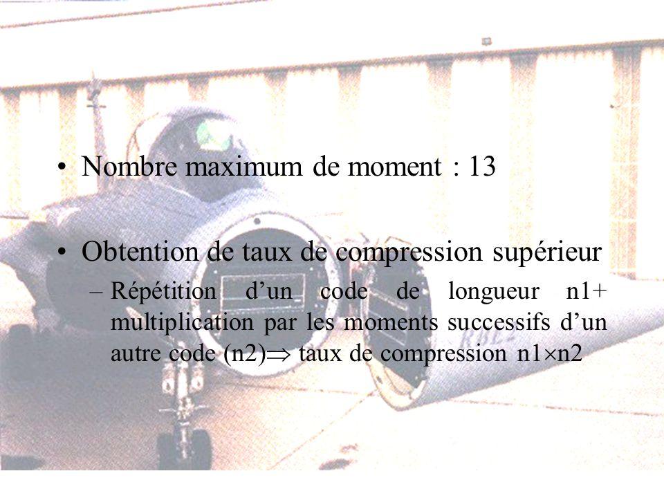 Nombre maximum de moment : 13