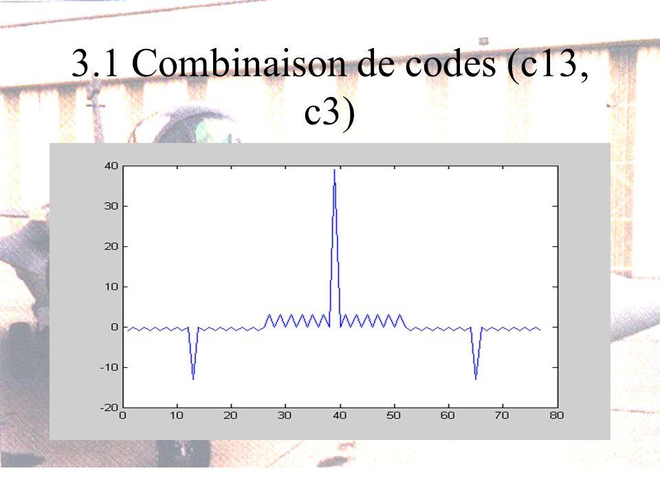 3.1 Combinaison de codes (c13, c3)