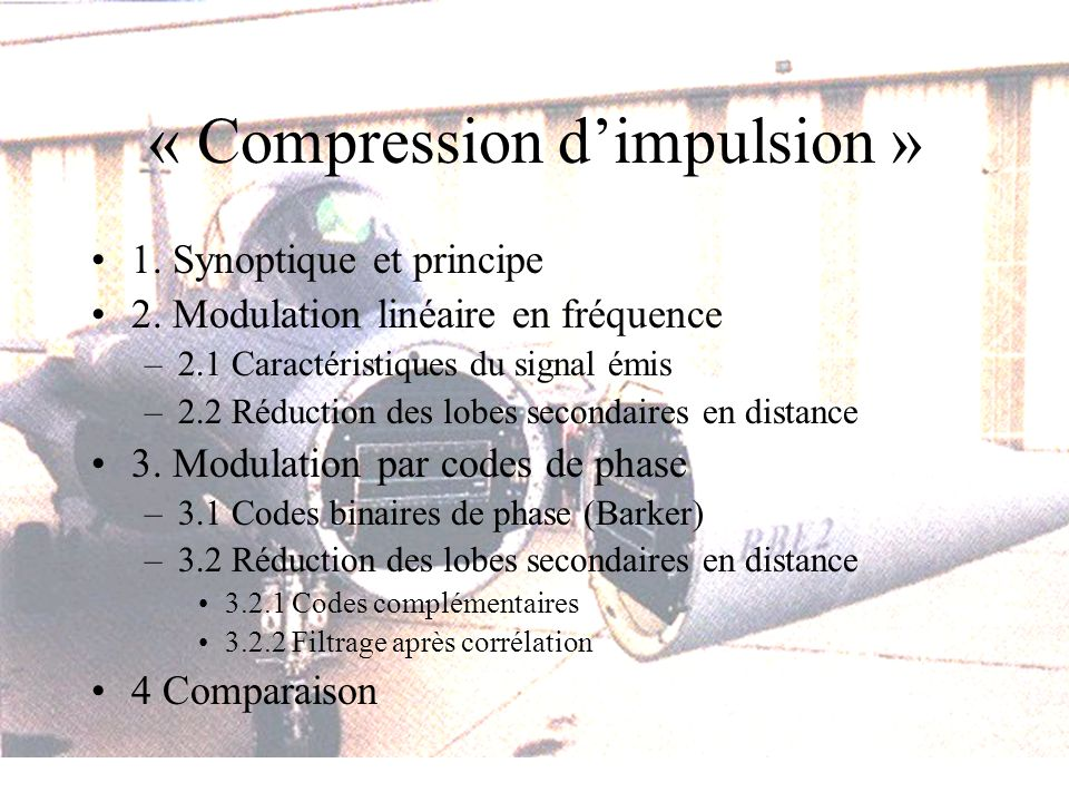 « Compression d'impulsion »