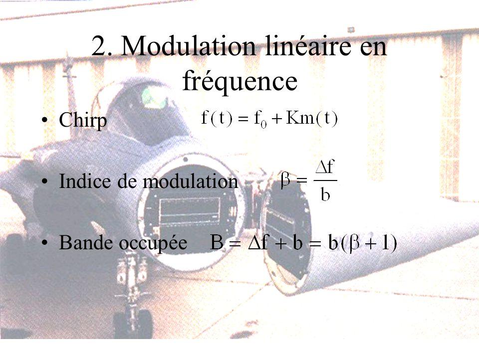 2. Modulation linéaire en fréquence
