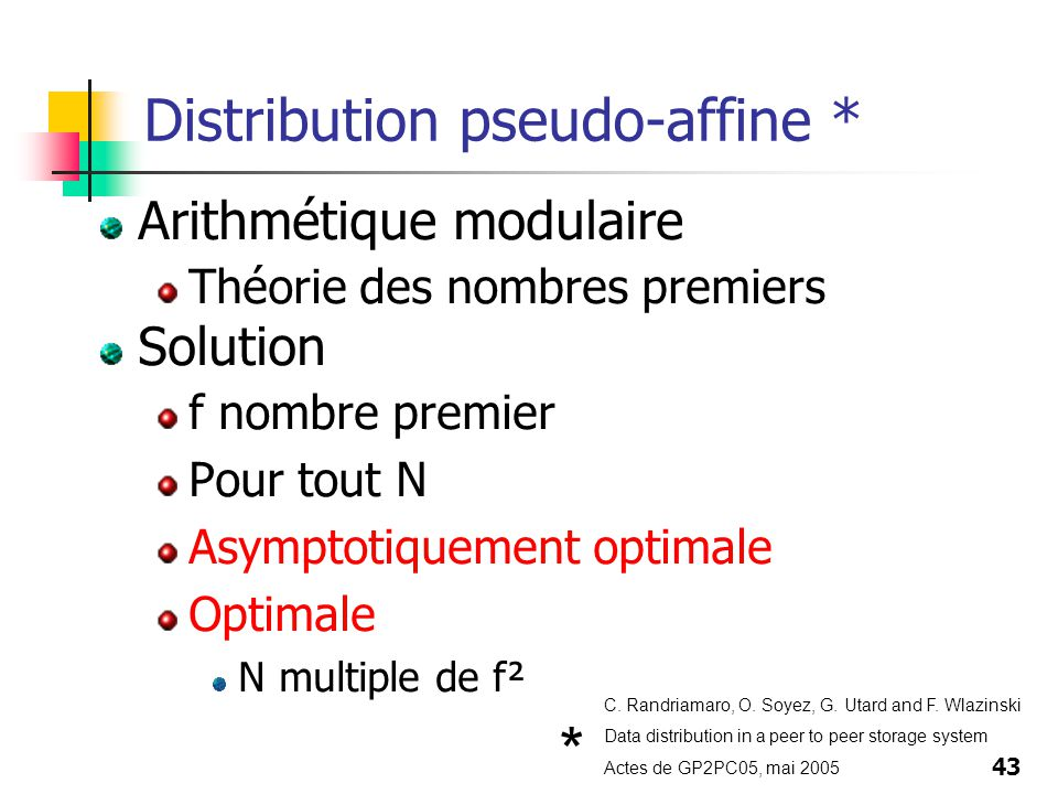 Distribution pseudo-affine *