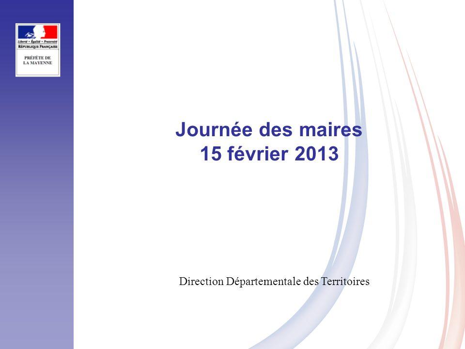 Journée des maires 15 février 2013