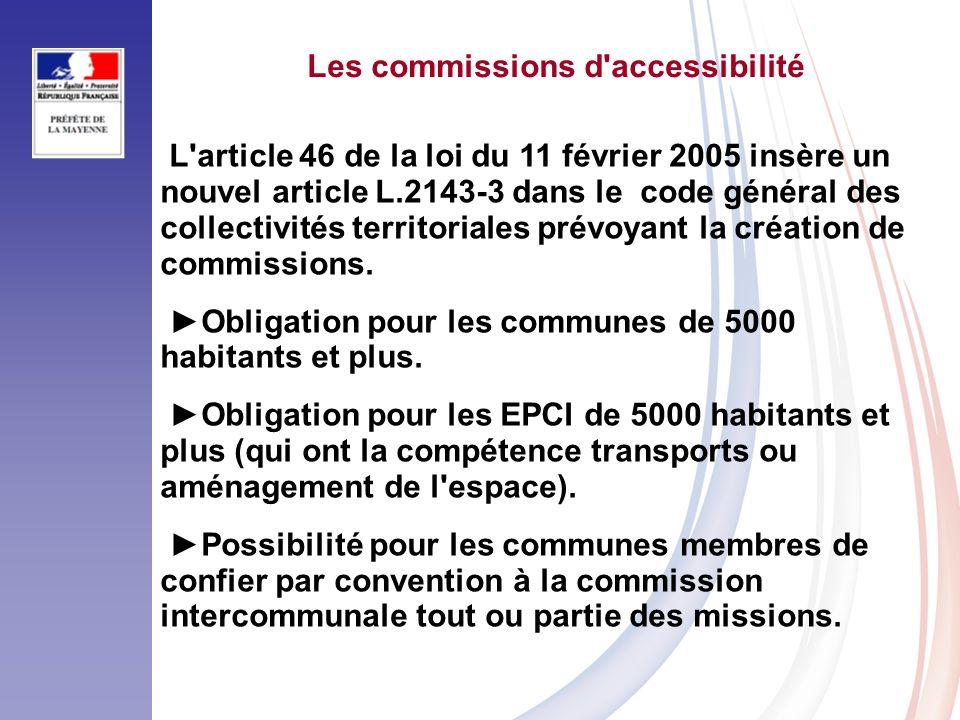 Les commissions d accessibilité