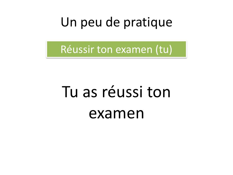 Réussir ton examen (tu)