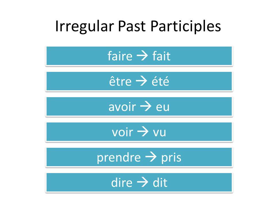 Irregular Past Participles