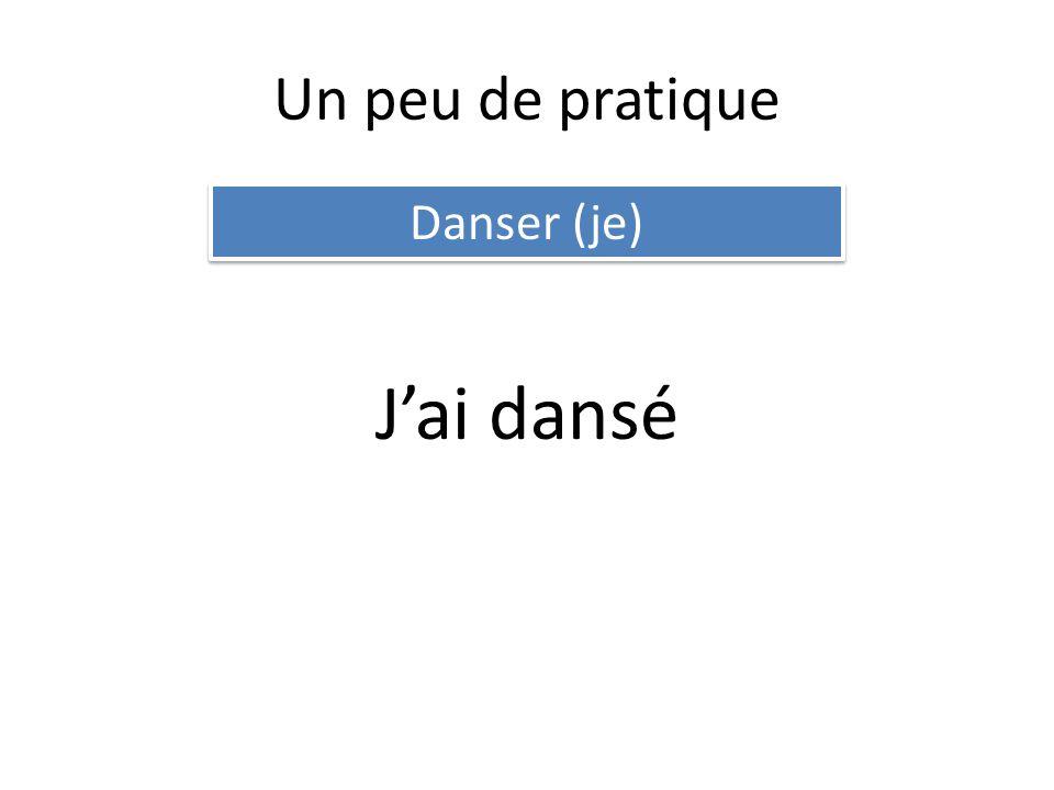 Un peu de pratique Danser (je) J'ai dansé