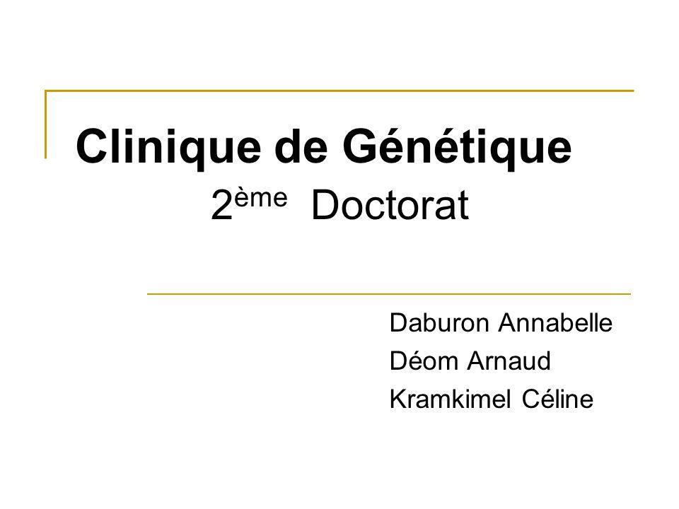 Clinique de Génétique 2ème Doctorat