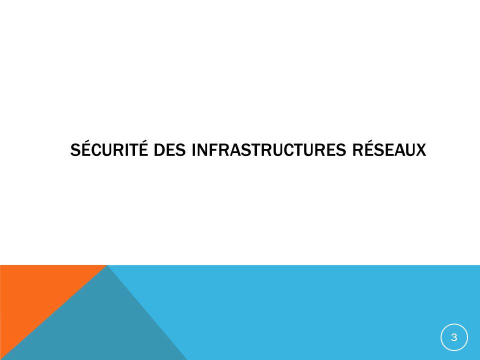 Sécurité des infrastructures réseaux