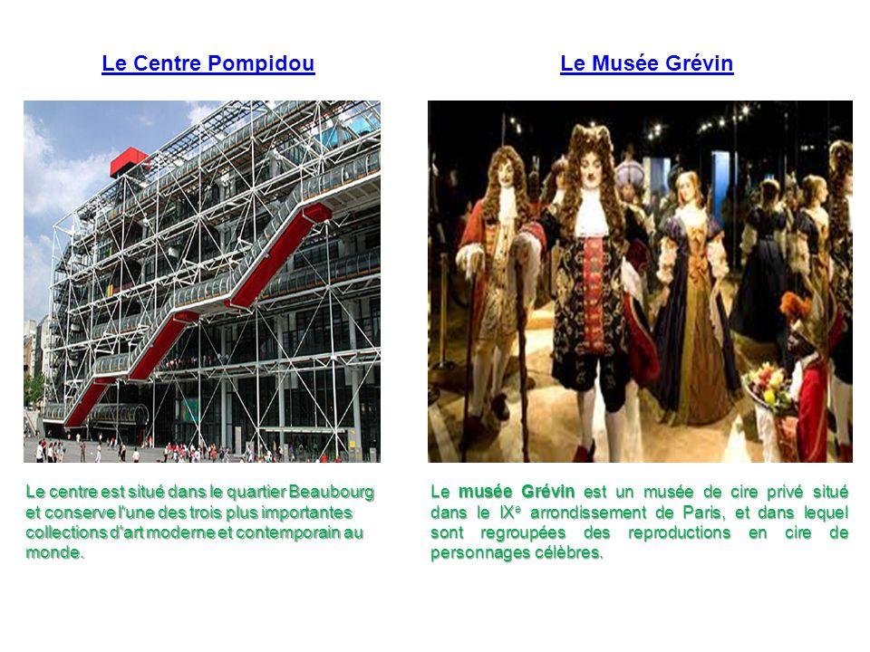 Le Centre Pompidou Le Musée Grévin