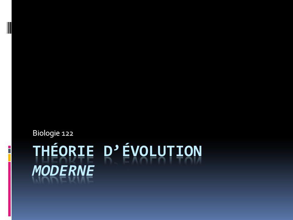 Théorie d'évolution moderne