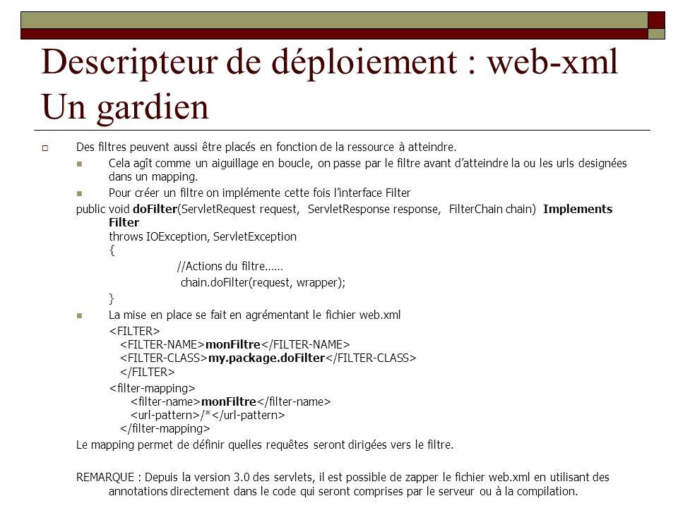 Descripteur de déploiement : web-xml Un gardien