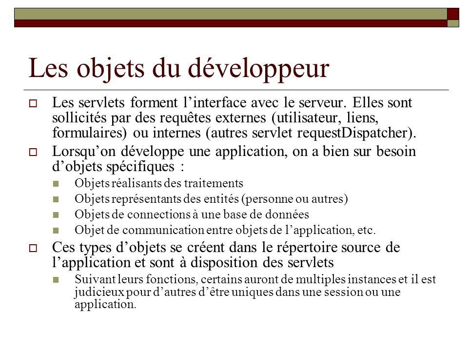 Les objets du développeur