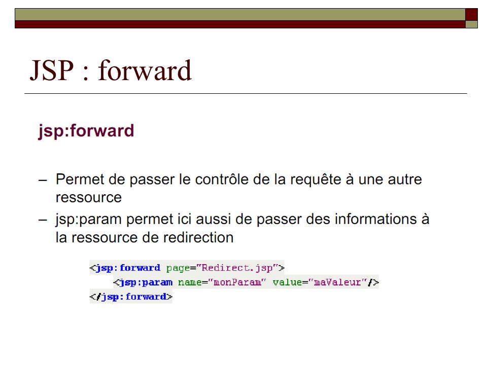 JSP : forward