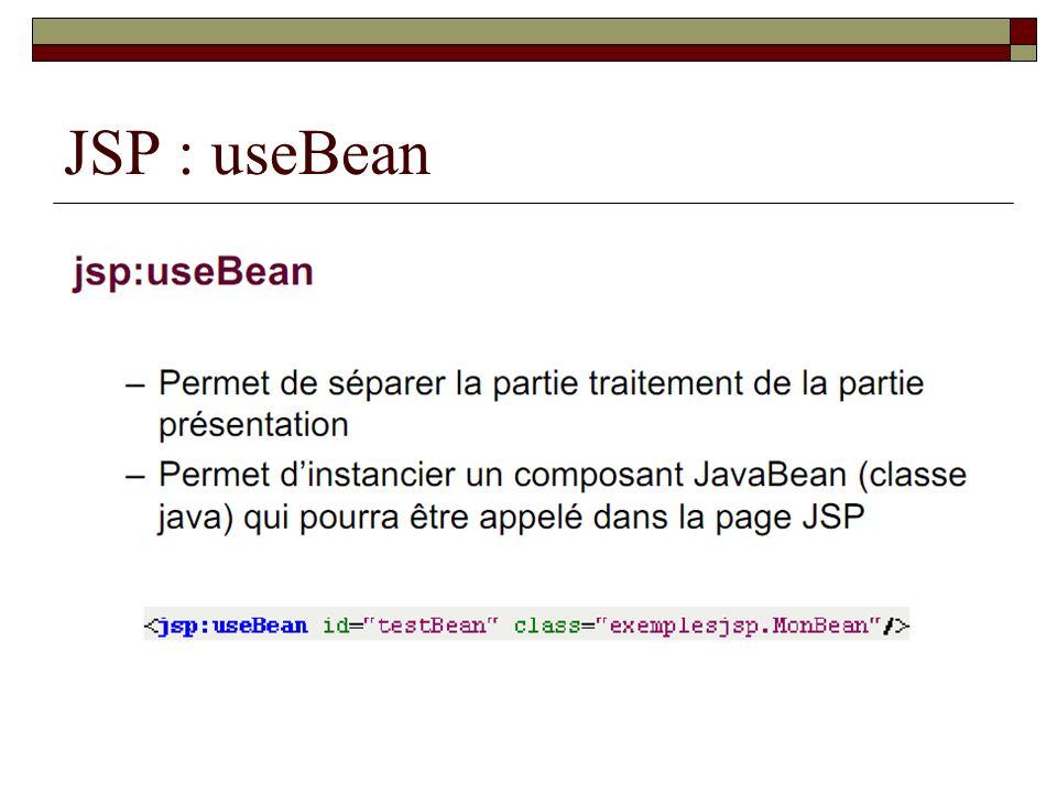 JSP : useBean