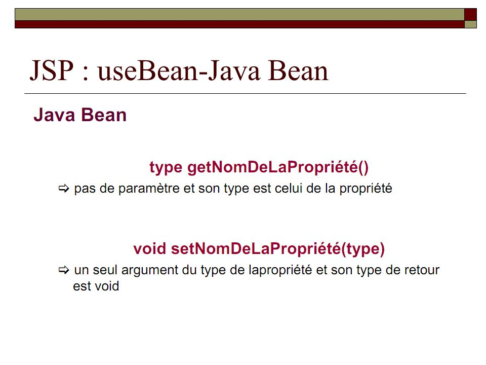 JSP : useBean-Java Bean
