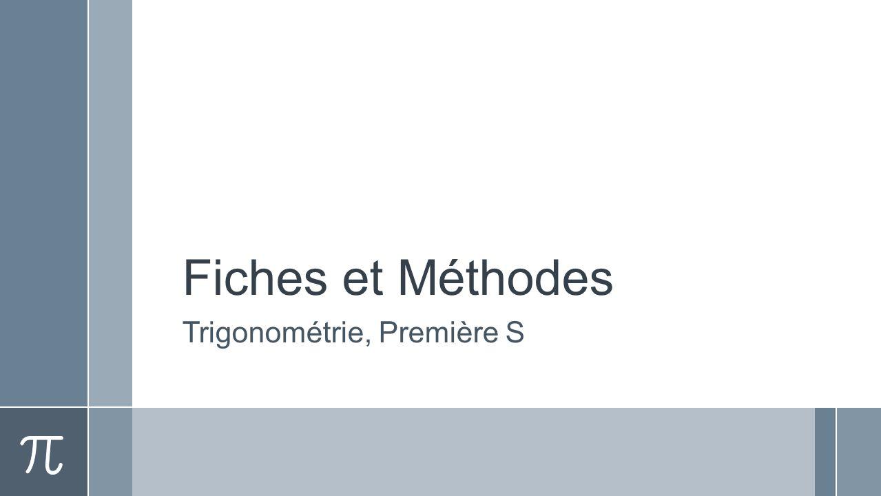 Trigonométrie, Première S
