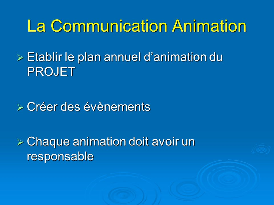 La Communication Animation