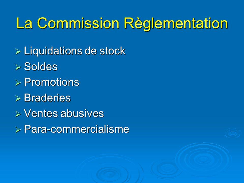 La Commission Règlementation