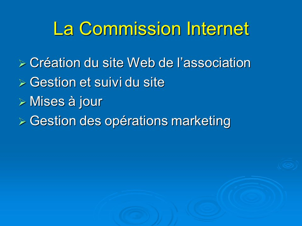 La Commission Internet