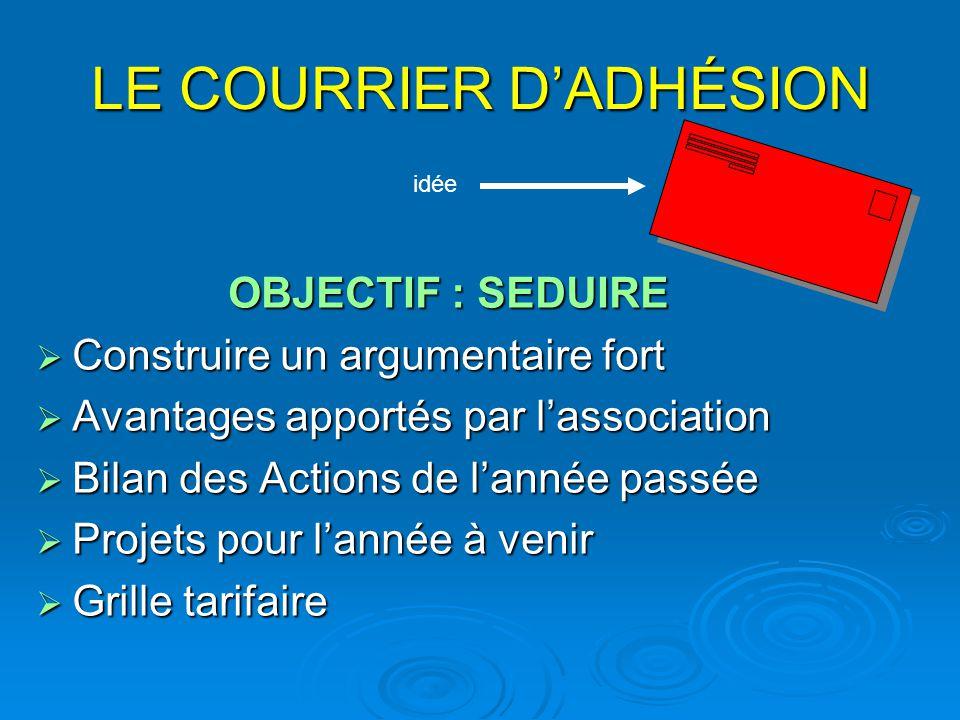 LE COURRIER D'ADHÉSION