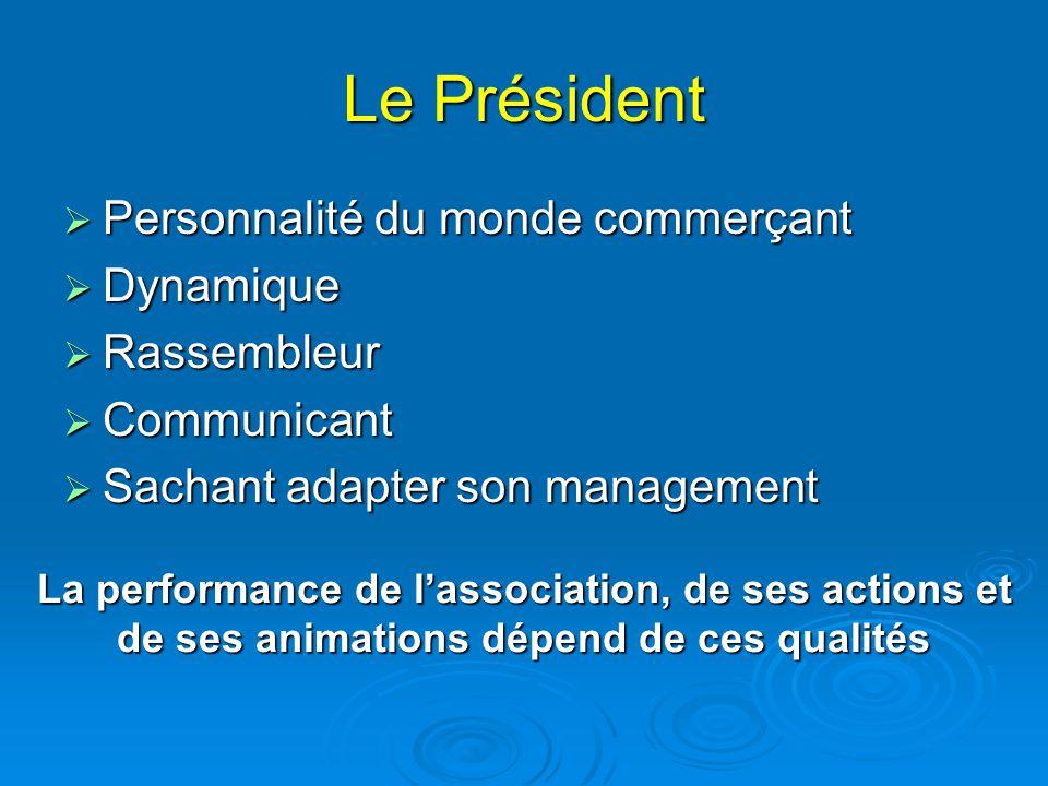Le Président Personnalité du monde commerçant Dynamique Rassembleur