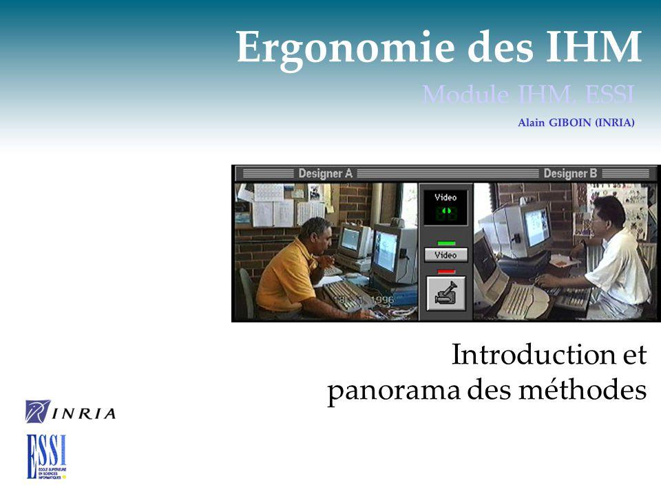 Ergonomie des IHM Introduction et panorama des méthodes