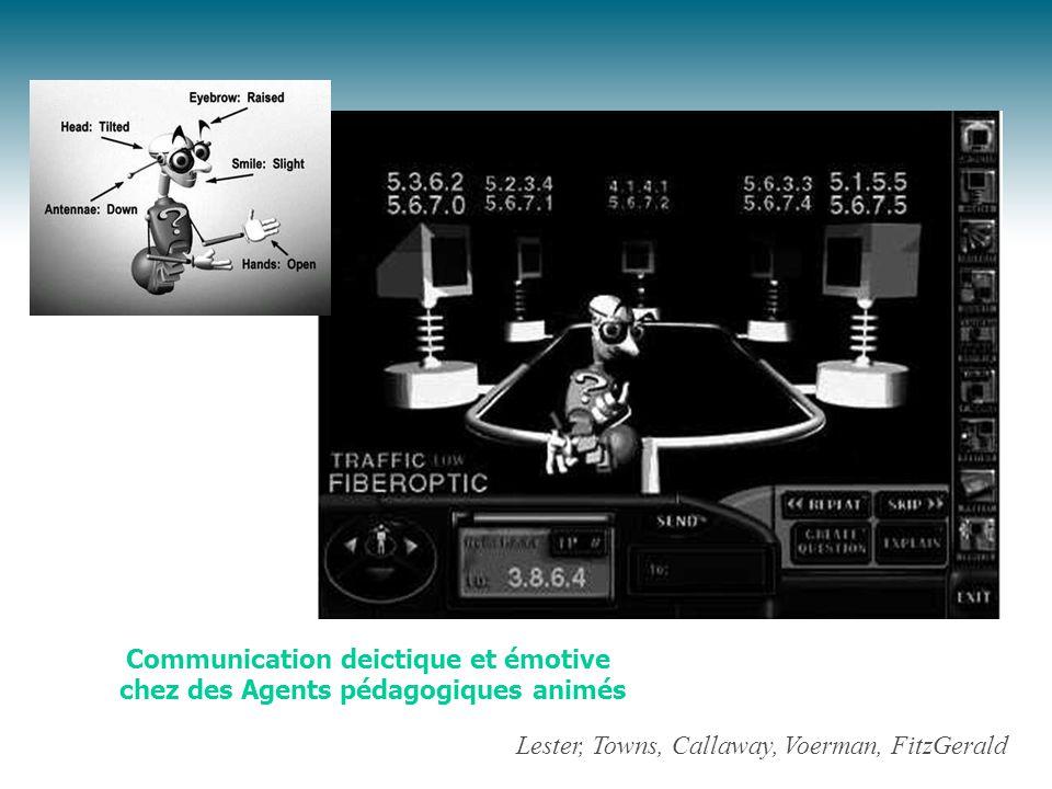 Communication deictique et émotive chez des Agents pédagogiques animés