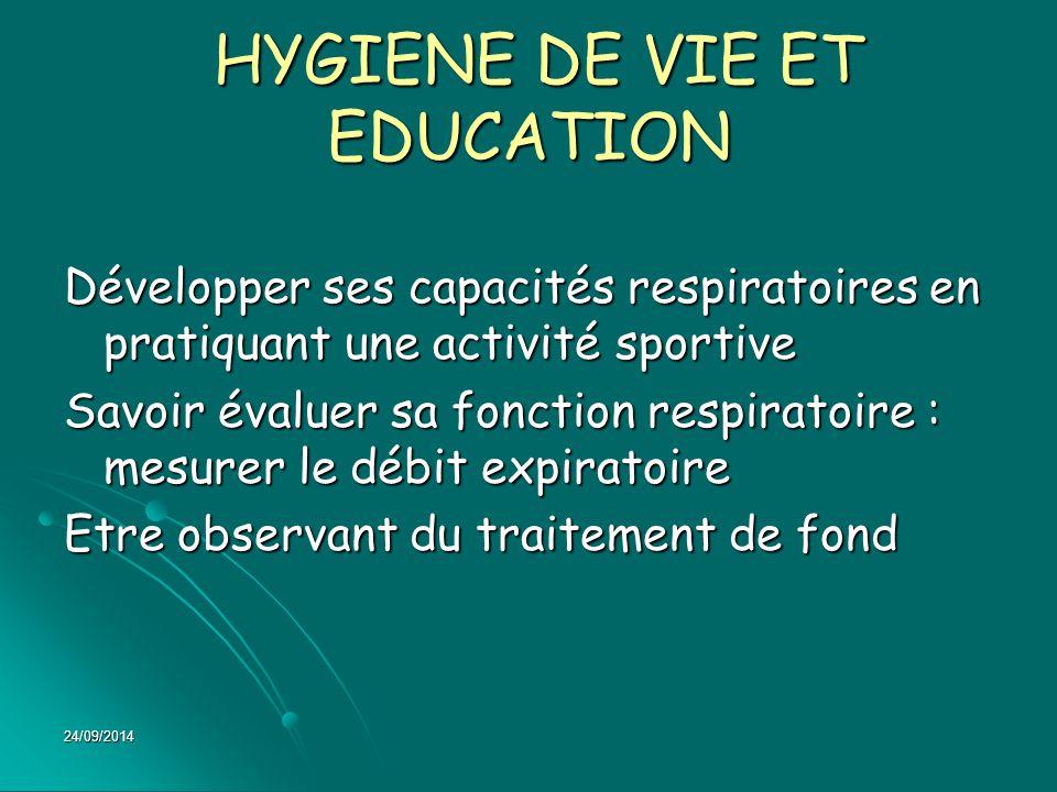 HYGIENE DE VIE ET EDUCATION