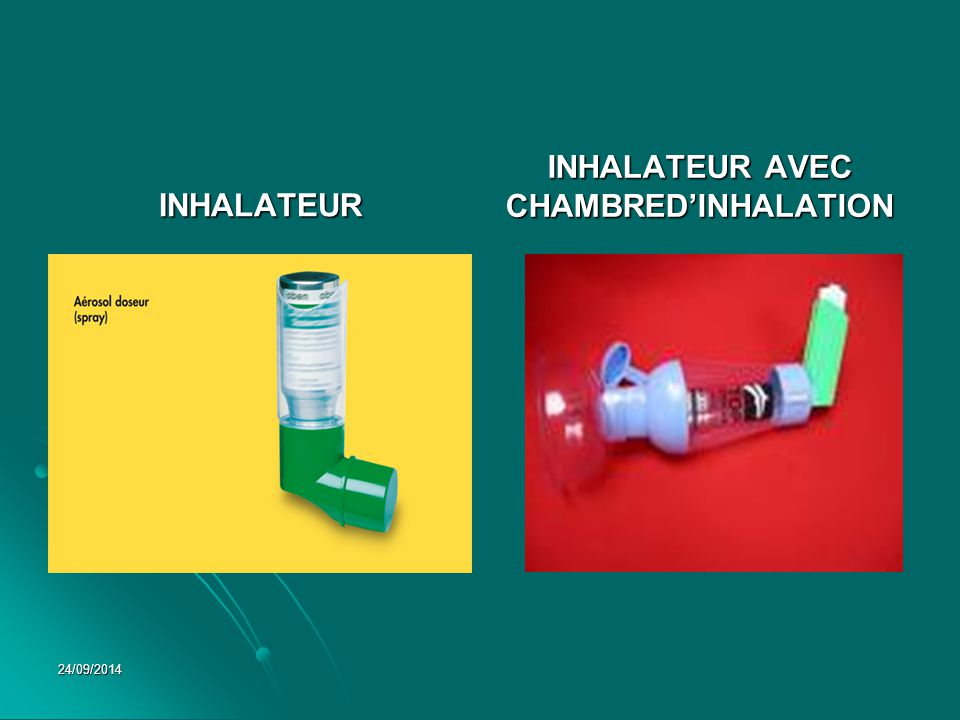 INHALATEUR AVEC CHAMBRED'INHALATION